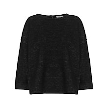Buy Whistles Double Face Sculptured Jumper, Black Online at johnlewis.com