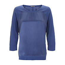 Buy Jigsaw Raglan Silk Front Sweatshirt Online at johnlewis.com