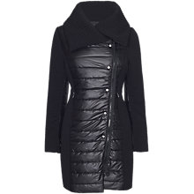 Buy James Lakeland Quilted Panel Coat, Black Online at johnlewis.com