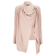 Buy Jigsaw Stitch Tab Drape Cardigan, Nude Online at johnlewis.com