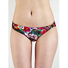Buy John Lewis Watercolour Ring Side Bikini Bottoms, Black / Multi Online at johnlewis.com