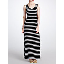 Buy John Lewis Twist Back Maxi Beach Dress, Navy / White Online at johnlewis.com
