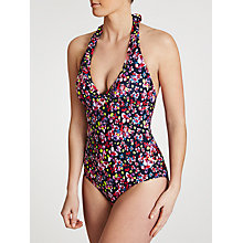 Buy John Lewis Faded Floral Swimsuit, Navy Multi Online at johnlewis.com