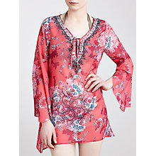 Buy Blue Mojito Long Embellished Print Kaftan, Darcy Pink Print Online at johnlewis.com