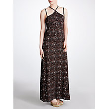 Buy John Lewis Braid Leopard Print Maxi Beach Dress, Animal Online at johnlewis.com