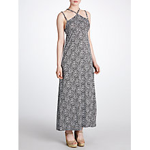 Buy John Lewis Braid Petal Burst Maxi Beach Dress, Black / White Online at johnlewis.com