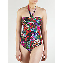 Buy John Lewis Watercolour Control Swimsuit, Black / Multi Online at johnlewis.com