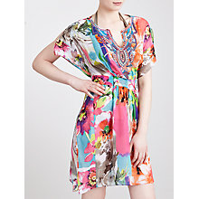 Buy Blue Mojito Long Embellished  Kaftan, Cici Floral Print Online at johnlewis.com