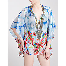 Buy Blue Mojito Short Embellished Kaftan, Madison Lily Print Online at johnlewis.com