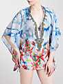 Blue Mojito Short Embellished Kaftan, Madison Lily Print