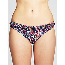 Buy John Lewis Faded Floral Bikini Bottoms, Navy Multi Online at johnlewis.com