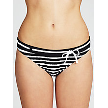 Buy John Lewis Stripe Rope Bikini Bottoms, Black / White Online at johnlewis.com