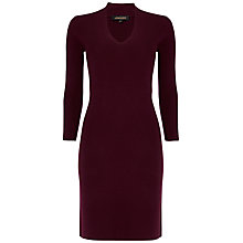 Buy Jaeger Ribbed V-Neck Dress Online at johnlewis.com