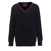 Buy Alpha Prep School Trim Jumper, Navy Online at johnlewis.com