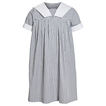 Buy Oakleigh House School Girls' Summer Dress, Grey/White Online at johnlewis.com