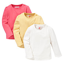 Buy John Lewis Long Sleeve T-Shirts, Pack of 3, Multi Online at johnlewis.com