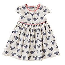 Buy John Lewis Mouse Poplin Dress, White/Grey Online at johnlewis.com