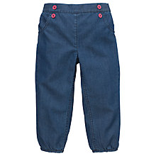 Buy John Lewis Chambray Trousers, Blue Online at johnlewis.com