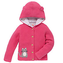 Buy John Lewis Hooded Cardigan with Ears, Pink Online at johnlewis.com