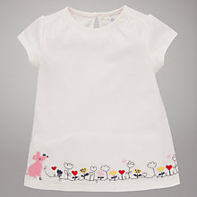 Buy John Lewis Mouse & Flowers T-Shirt, Cream Online at johnlewis.com