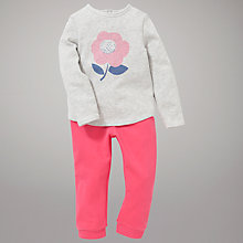 Buy John Lewis Flower Top & Joggers Outfit, Pink/Grey Online at johnlewis.com