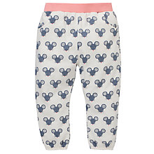 Buy John Lewis Mouse Print Harem Trousers, White/Grey Online at johnlewis.com