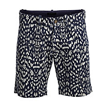 Buy Selected Homme Ikat Print Shorts, Dark Navy Online at johnlewis.com