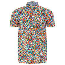 Buy Pretty Green Thorley Floral Print Short Sleeve Shirt, Blue Paisley Online at johnlewis.com