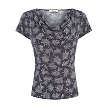 Buy Precis Petite Firework Print Cowl Top, Navy Online at johnlewis.com