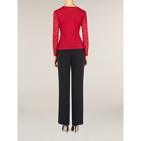 Buy Planet Classic Straight Leg Trousers, Black Online at johnlewis.com