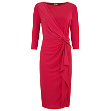 Buy Planet Jersey Drape Dress, Red Online at johnlewis.com