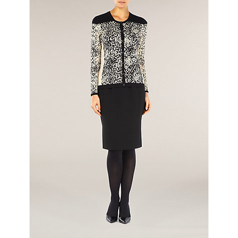 Buy Planet Black Block Printed Cardigan, Black/White Online at johnlewis.com