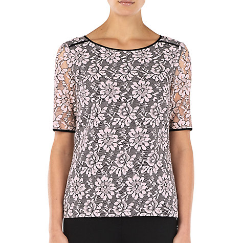 Buy Kaliko Lace Blouse, Pink Online at johnlewis.com