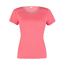 Buy Kaliko Pocket Jersey T-Shirt, Pink Online at johnlewis.com