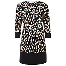 Buy Planet Black Based Printed Jersey Tunic Dress, Black/White Online at johnlewis.com