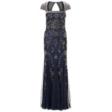 Buy Adrianna Papell Cap Sleeve Beaded Dress, Navy Online at johnlewis.com