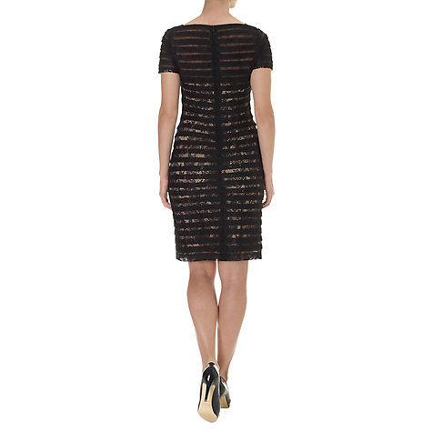 Buy Adrianna Papell Illusion Band Sheath Dress, Black Online at johnlewis.com