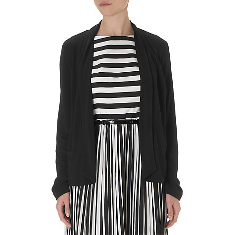 Buy Adrianna Papell Open Collar Jacket, Black Online at johnlewis.com