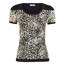 Buy Planet Block Print Jumper, Black/White Online at johnlewis.com
