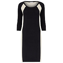 Buy Planet Panel Knitted Dress, Black/White Online at johnlewis.com