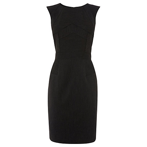 Buy Warehouse Pinstripe Dress, Grey Stripe Online at johnlewis.com