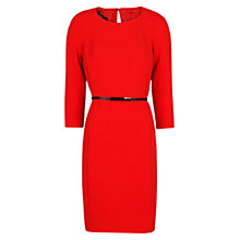 Buy Mango Pencil Padded Shoulder Dress, Bright Red Online at johnlewis.com