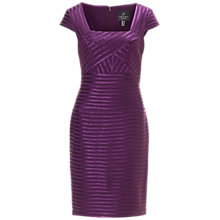Buy Adrianna Papell Wrapped Sheath Dress, Dusty Plum Online at johnlewis.com