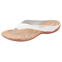 Buy DKNY Sarasota Snakeskin Sandals, White Online at johnlewis.com