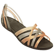 Buy Crocs Huarache Overlapping Strap Sandals, Bronze Online at johnlewis.com
