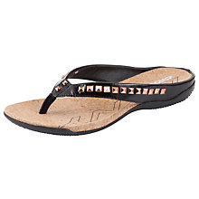 Buy DKNY Sarasota Leather Sandals, Black Online at johnlewis.com