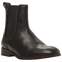 Buy Dune Black Penni Chelsea Leather Boots, Black Online at johnlewis.com