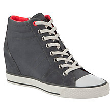 Buy DKNY Cindy Canvas Wedge Trainers Online at johnlewis.com
