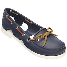 Buy Crocs Beach Line Women's Boat Shoes, Navy / White Online at johnlewis.com