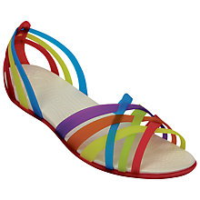 Buy Crocs Huarache Overlapping Strap Flip-Flop Sandals, Multi Online at johnlewis.com